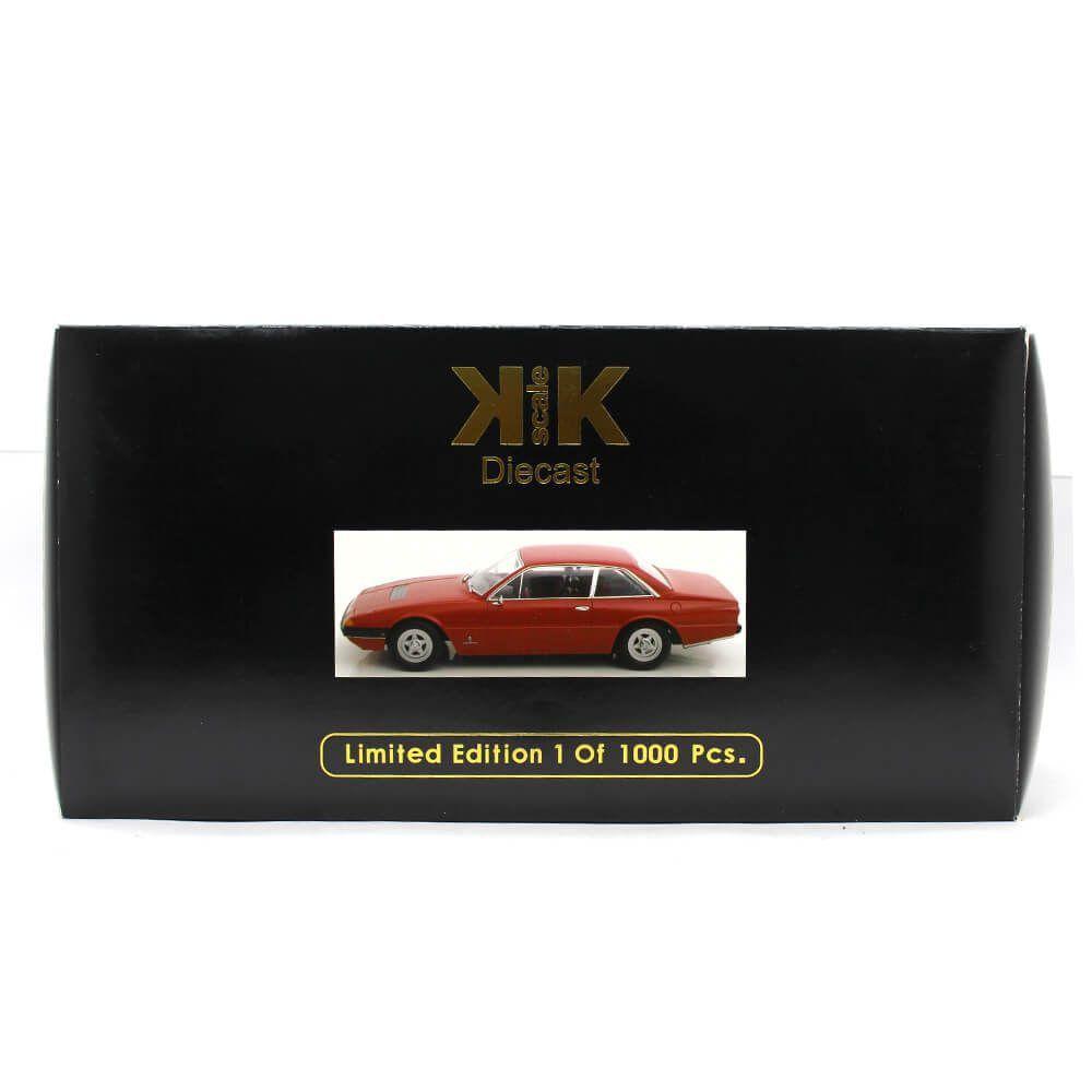 Miniatura Ferrari 365 GT4 2+2 1972 Vermelha 1/18 KK Scale