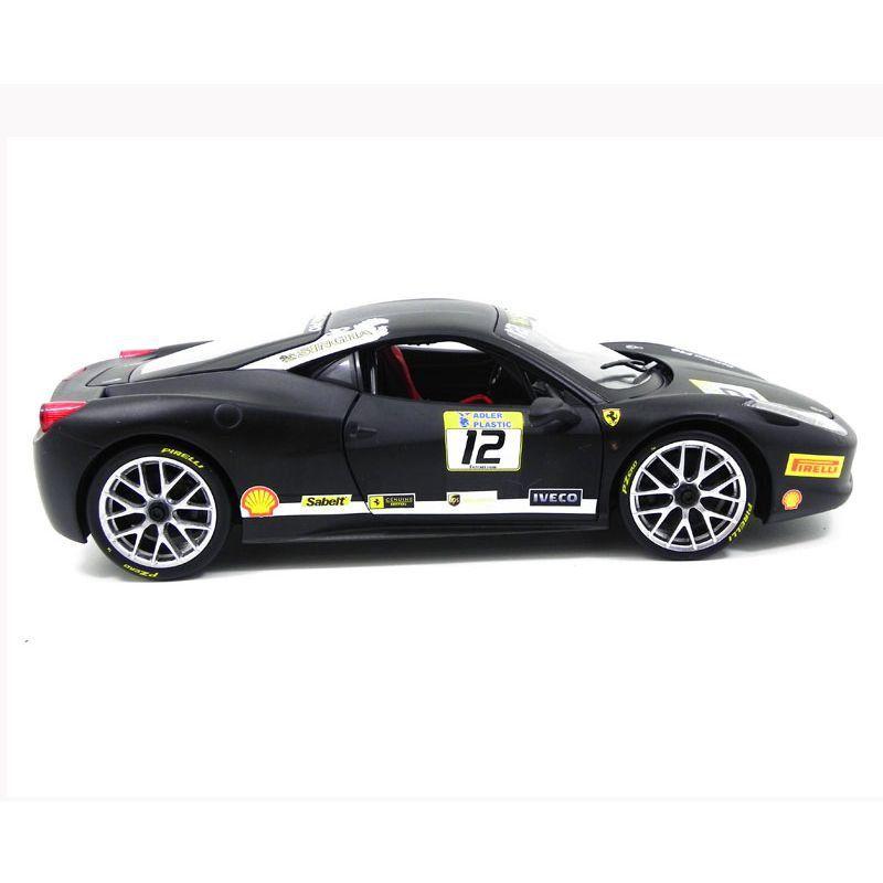 Miniatura Ferrari 458 Challenge Matt Black 1/18 Hot Wheels