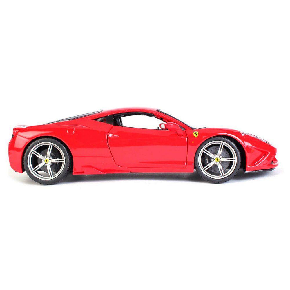 Miniatura Ferrari 458 Italia Speciale 2013 Vermelha 1/18 BBurago Race & Play