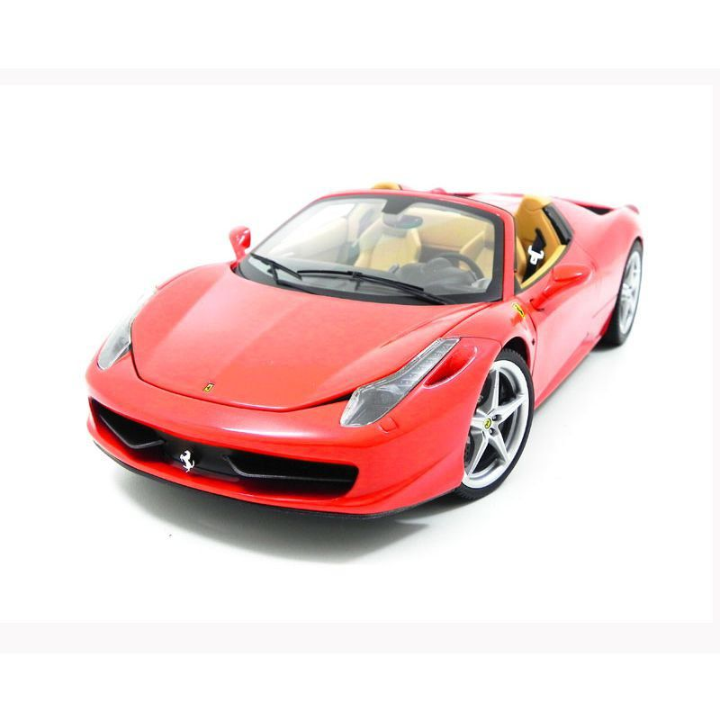 Miniatura Ferrari 458 Spider Red 1/18 Hot Wheels Elite