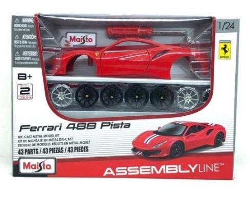 Miniatura Ferrari 488 Pista Kit Em Metal 1/24 Maisto
