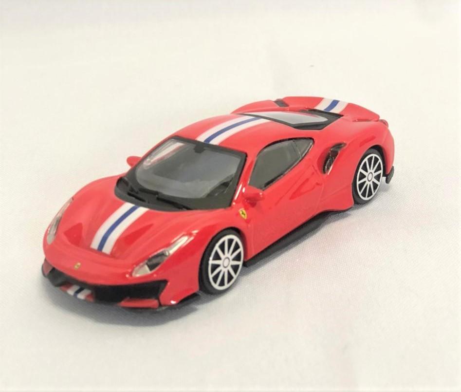 Miniatura Ferrari 488 Pista Race & Play 1/43 Bburago
