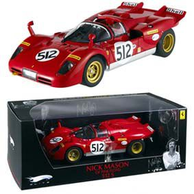 Miniatura Ferrari 512 S Nick Manson Pink Floyd Elite 1/18 Hot Wheels