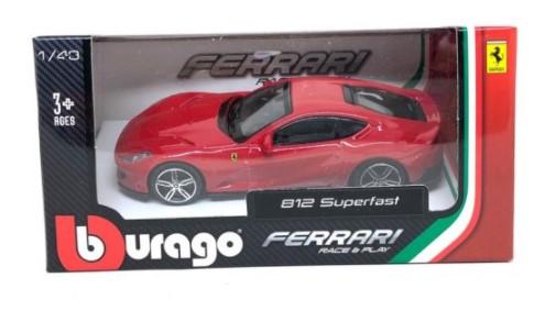 Miniatura Ferrari 812 Superfast Race & Play 1/43 Bburago
