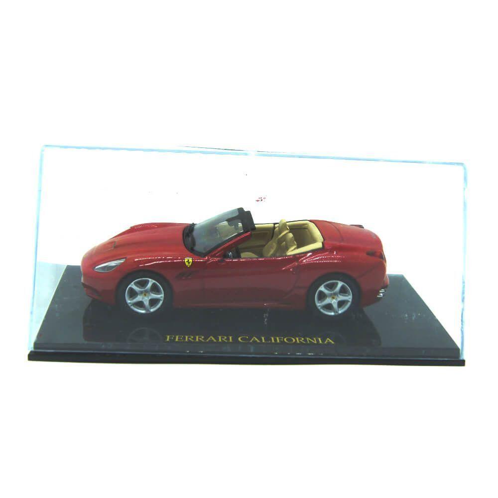 Miniatura Ferrari California 1/43 Ferrari Collection 5 com DEFEITO no retrovisor