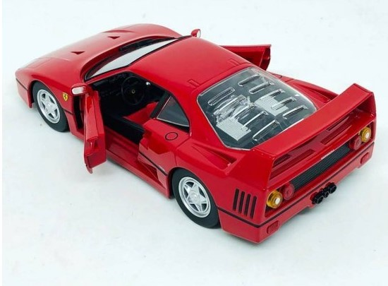 Miniatura Ferrari F40 Race & Play 1/24 Bburago