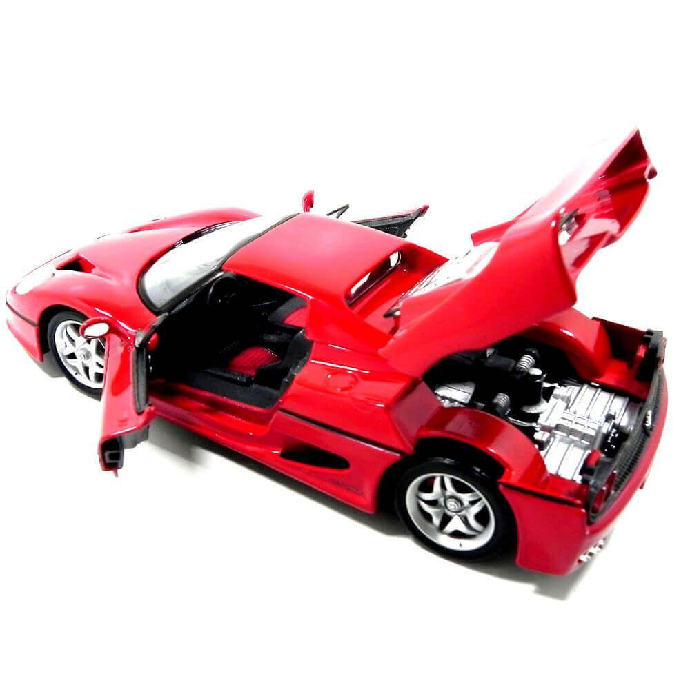 Miniatura Ferrari F50 1995 Vermelha 1/24 Bburago Race & Play