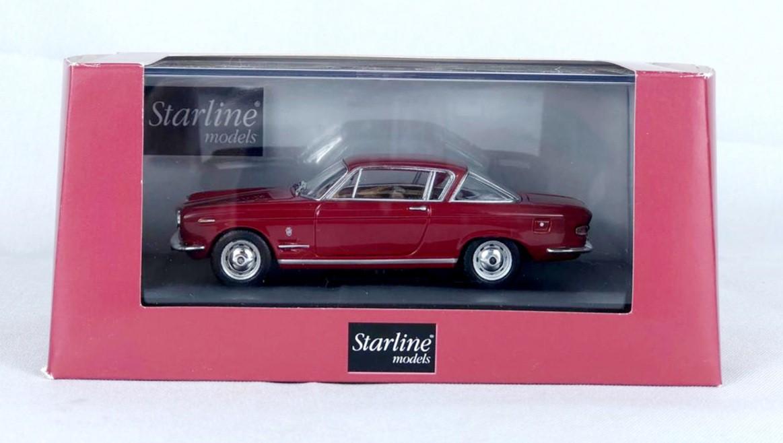 Miniatura Fiat 2300 Coupe 1961 Vinho 1/43 Starline
