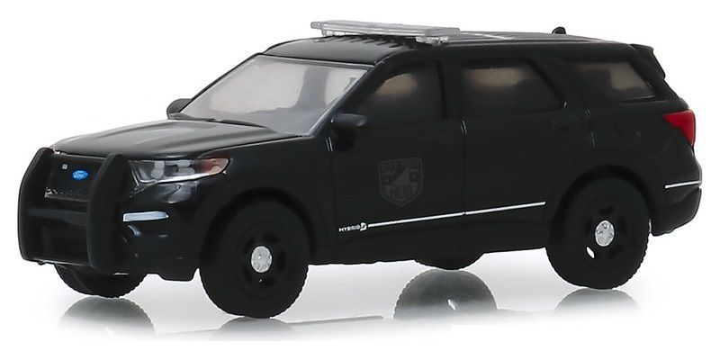 Miniatura Ford 2020 Policia Interceptor Black Bandit 1/64 Greenlight
