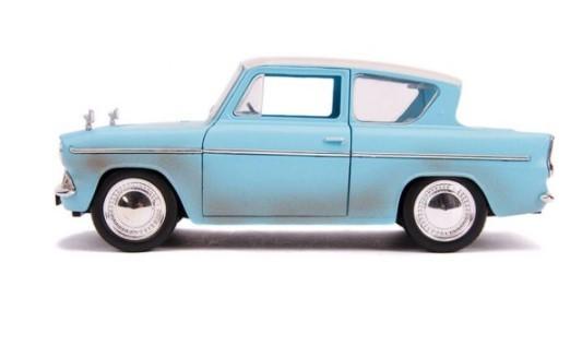 Miniatura Ford Anglia 1959 Harry Potter com Boneco 1/24 Jada Toys