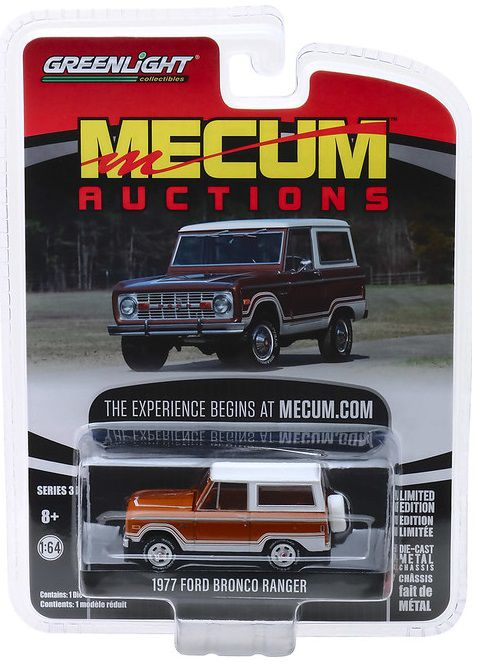 Miniatura Ford Bronco 1977 Mecum Auctions 1/64 Greenlight