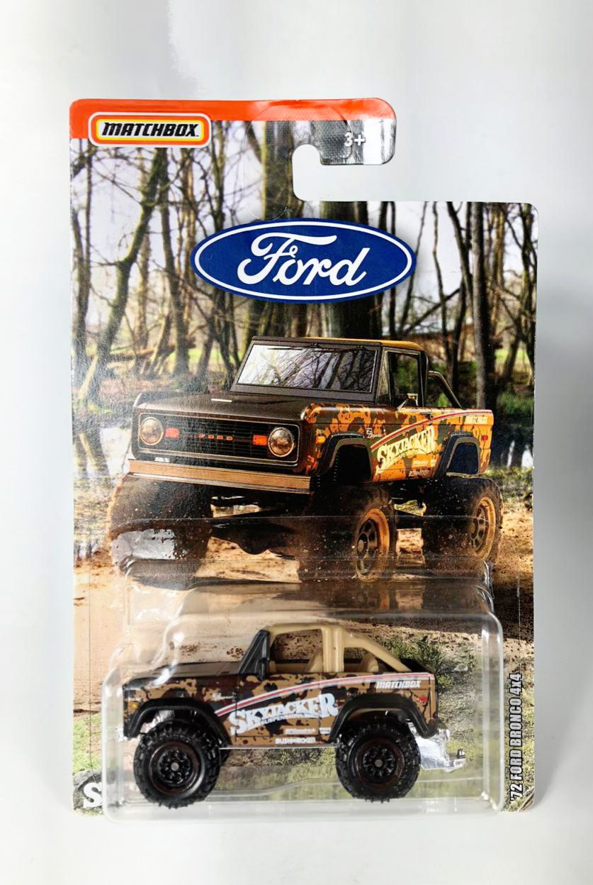 Miniatura Ford Bronco 4x4 '72 1/64 Matchbox