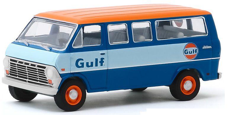 Miniatura Ford Club Wagon 1968 Gulf Running on Empty 1/64 Greenlight