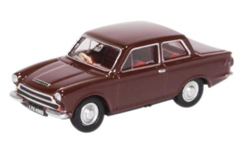Miniatura Ford Cortina MK I Black Cherry 1/76 Oxford