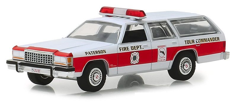 Miniatura Ford Crown Victoria 1985 Bombeiro New Jersey 1/64 Greenlight