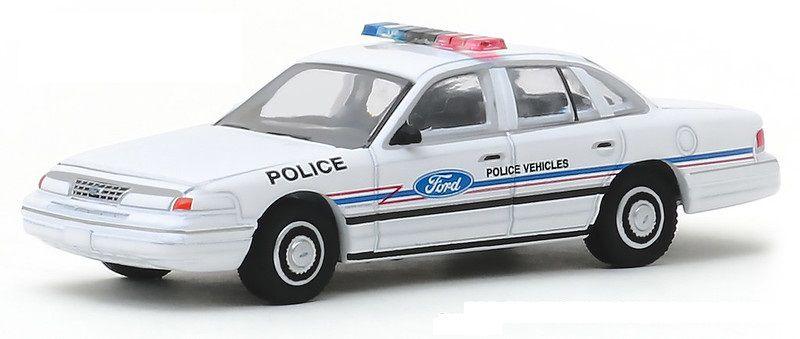 Miniatura Ford Crown Victoria 1993 Polícia Hot Pursuit 1/64 Greenlight
