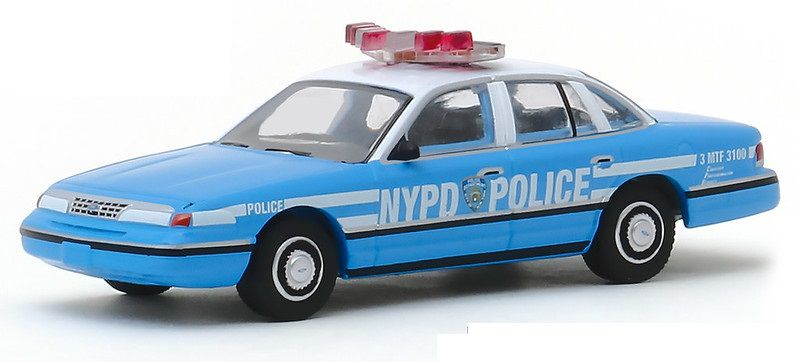 Miniatura Ford Crown Victoria 1993 Polícia Hot Pursuit 1/64 Greenlight