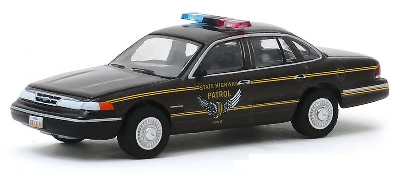 Miniatura Ford Crown Victoria 1995 Polícia Hot Pursuit 1/64 Greenlight