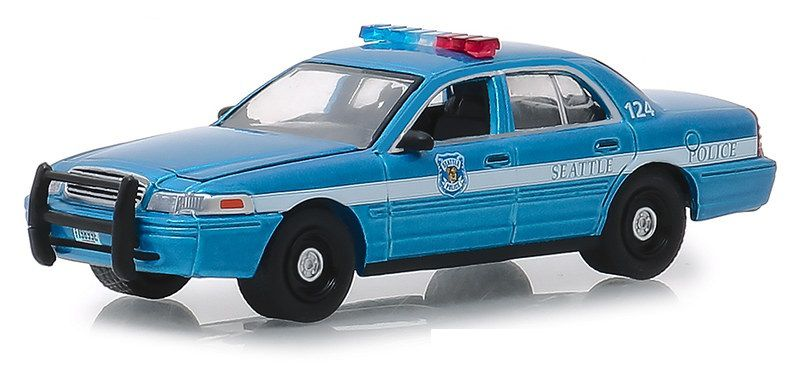 Miniatura Ford Crown Victoria 2010 Policia Hot Pursuit 1/64 Greenlight