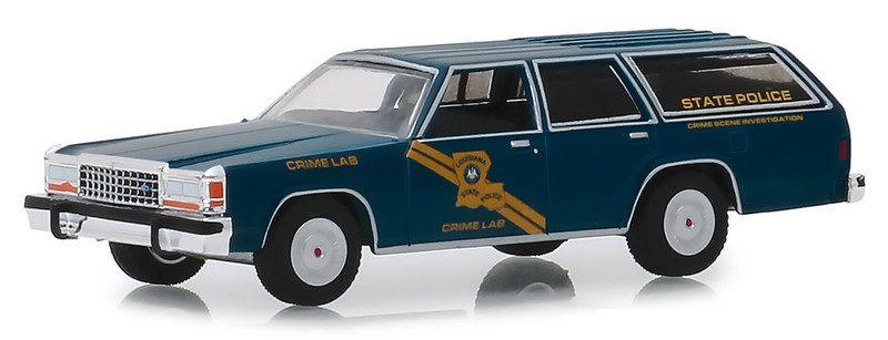 Miniatura Ford Crown Victoria Wagon 1987 Polícia Hot Pursuit 1/64 Greenlight