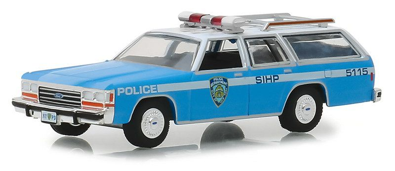 Miniatura Ford Crown Victoria Wagon 1988 Polícia Hot Pursuit 1/64 Greenlight