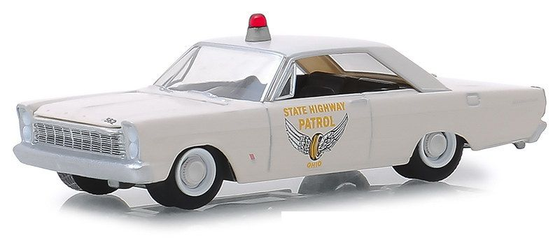 Miniatura Ford Custom 1965 Policia Hot Pursuit 1/64 Greenlight