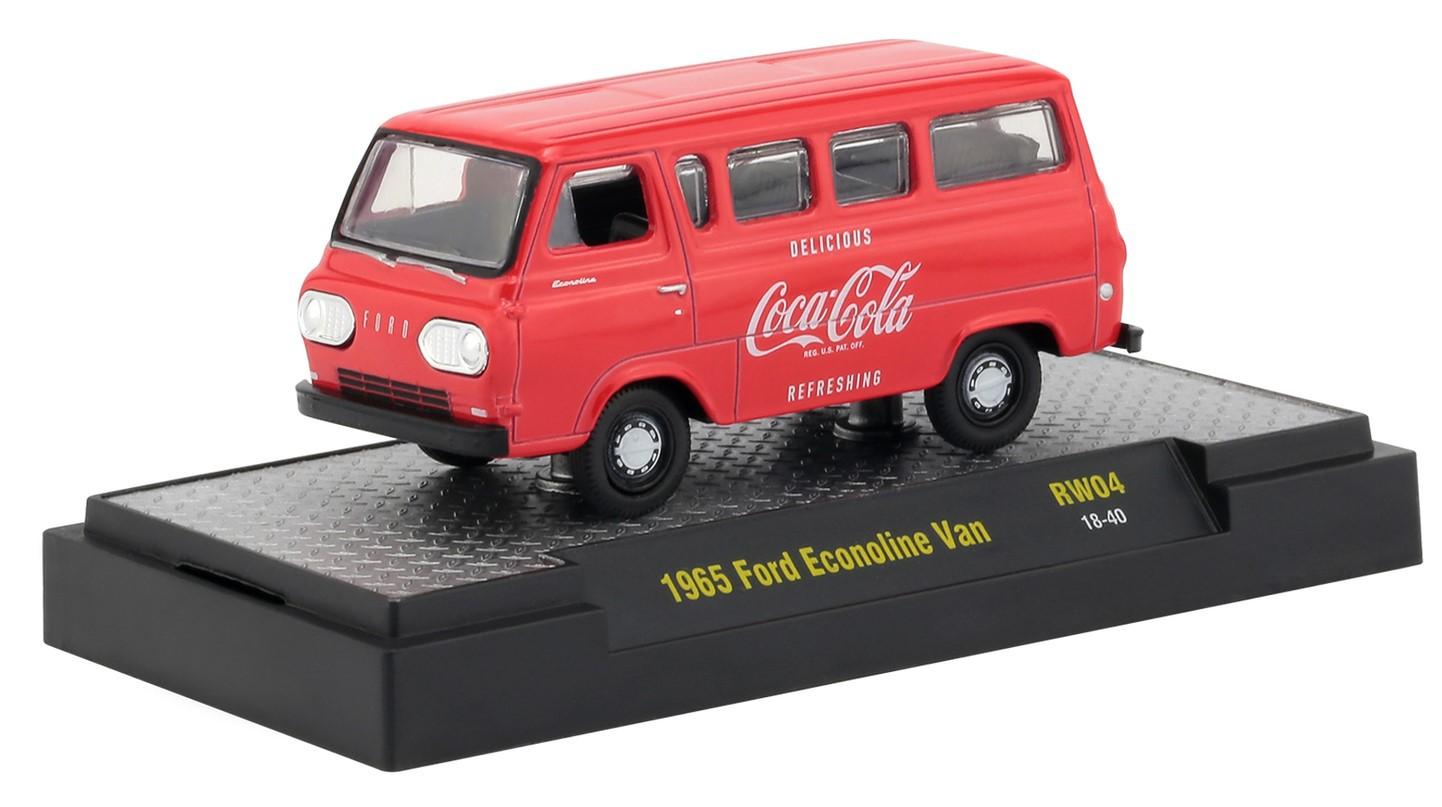 Miniatura Ford Econoline Van 1965 Coca Cola 1/64 M2