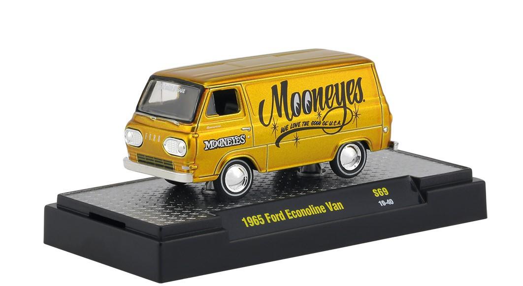 Miniatura Ford Econoline Van 1965 Mooneyes 1/64 M2