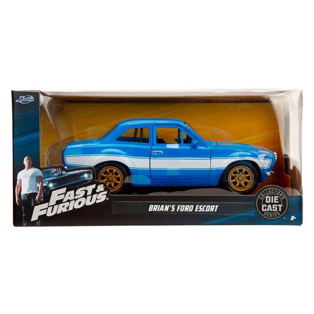 Miniatura Ford Escort RS 2000 Velozes e Furiosos 1/24 Jada Toys