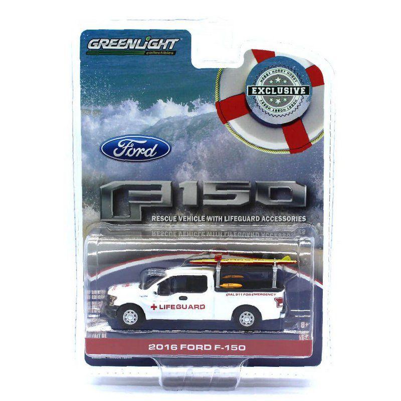 Miniatura Ford F150 2016 Salva Vidas 1/64 Greenlight