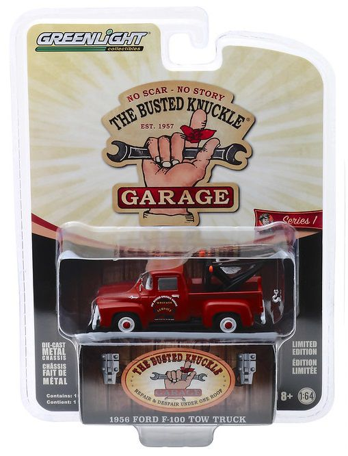 Miniatura Ford F-100 1956 Tow Truck 1/64 Greenlight