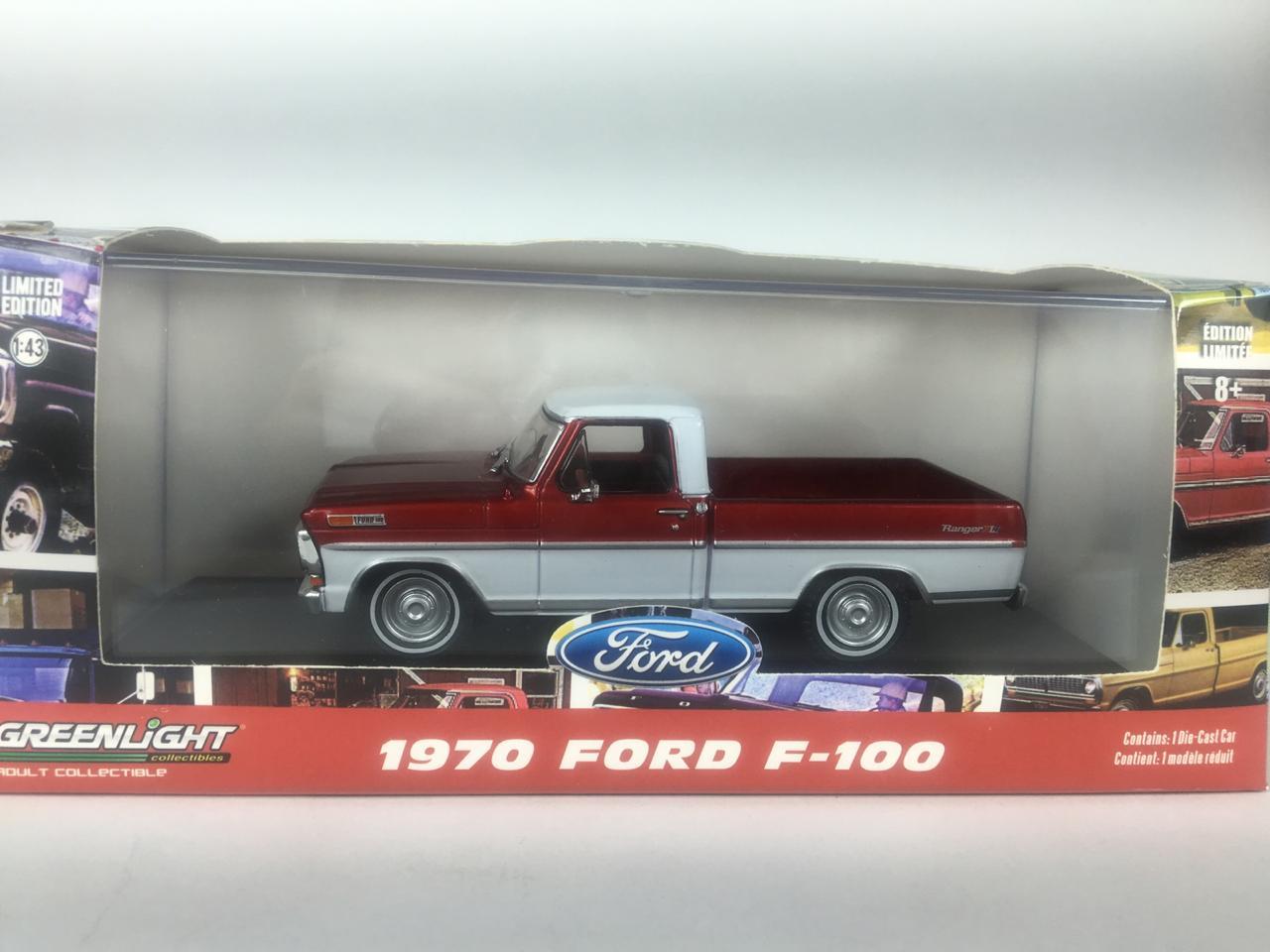 Miniatura Ford F-100 1970 Vermelha 1/43 Greenlight
