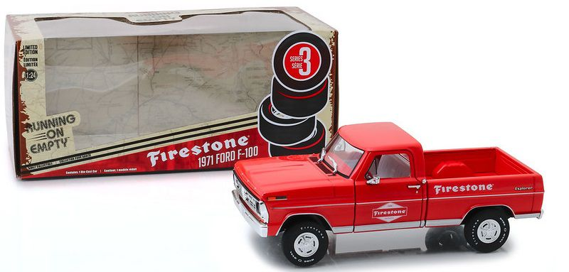 Miniatura Ford F-100 1971 Firestone Running on Empty 1/24 Greenlight
