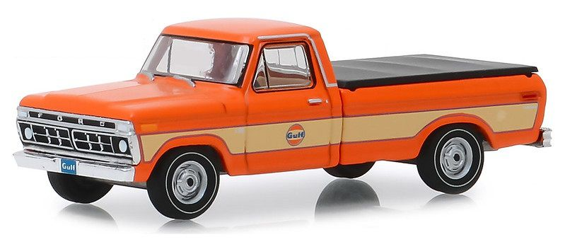 Miniatura Ford F-100 1976 Gulf Oil Running on Empty 1/64 Greenlight
