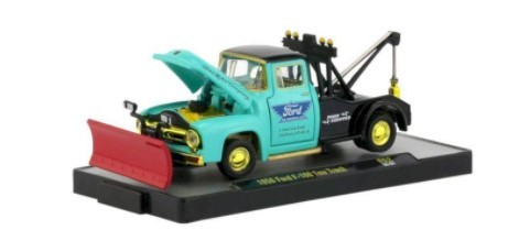 Miniatura Ford F-100 Tow Truck 1956 Chase 1/64 M2