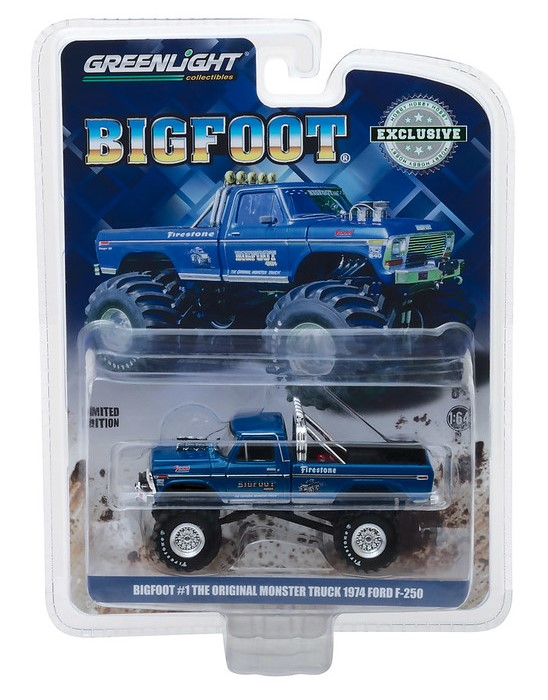 Miniatura Ford F-250 1974 Big Foot Monster Truck 1/64 Greenlight