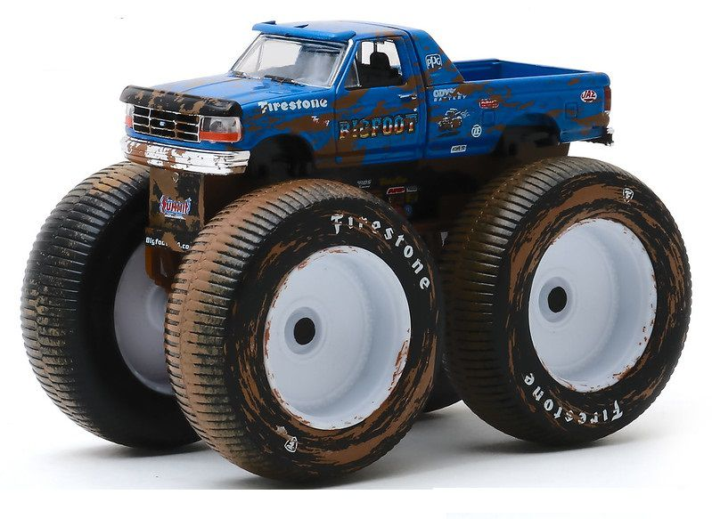 Miniatura Ford F-250 1996 Monster Truck Bigfoot 1/64 Greenlight