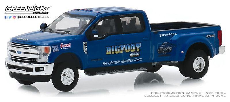 Miniatura Ford F-350 2019 Bigfoot Dually Drivers 1/64 Greenlight