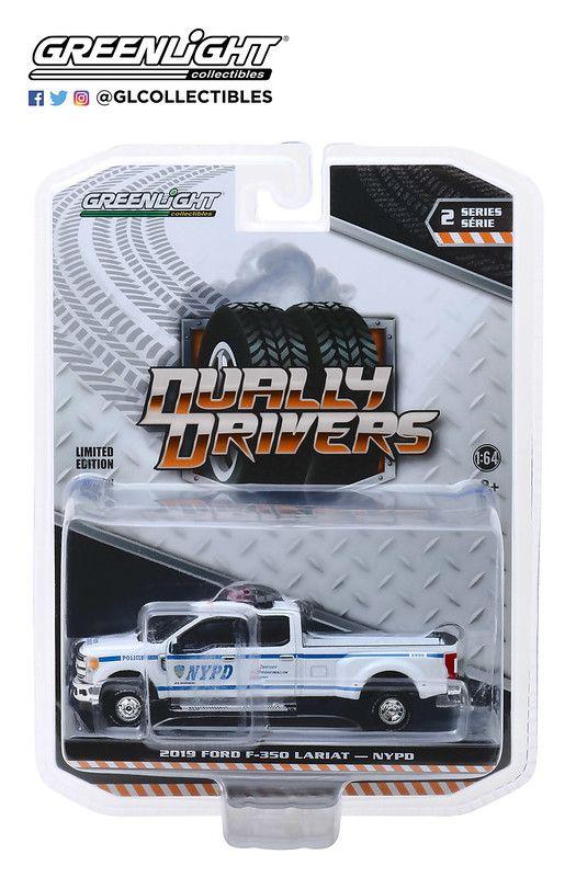 Miniatura Ford F-350 2019 Polícia Dually Drivers 1/64 Greenlight