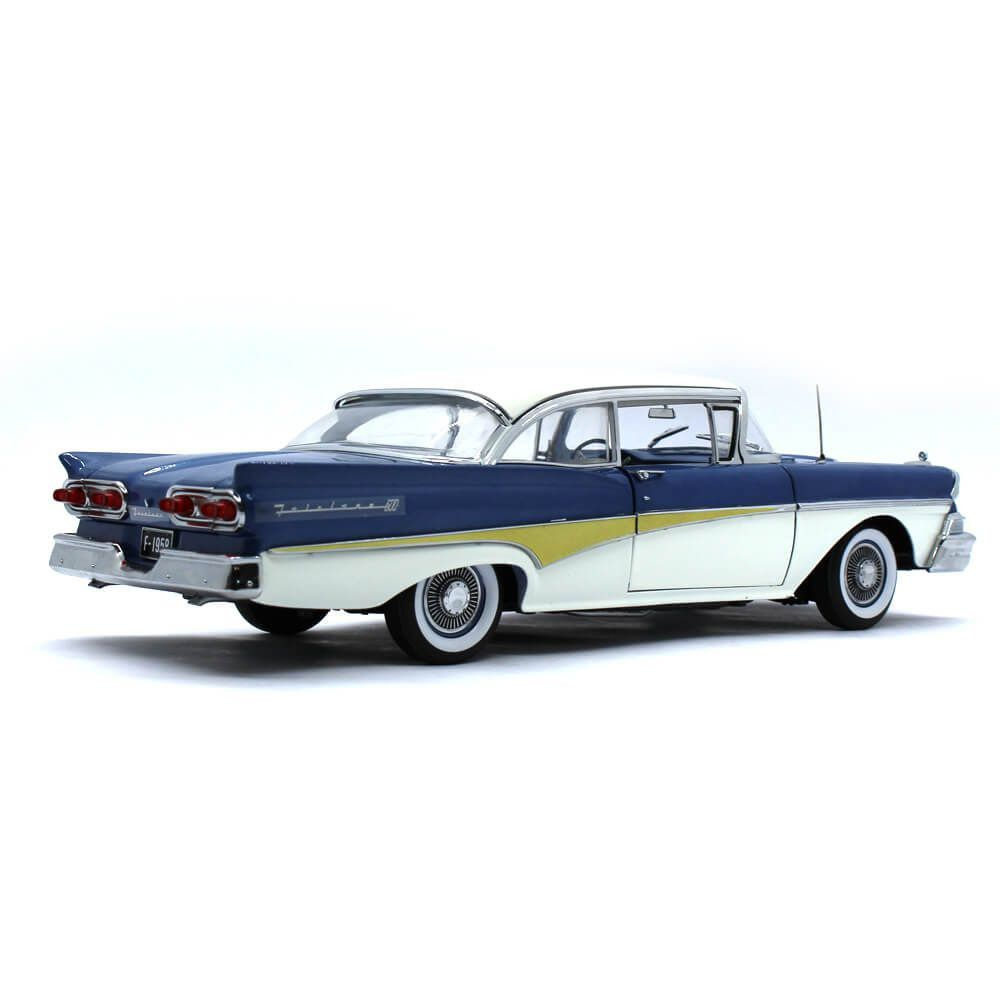 Miniatura Ford Fairlane 500 Hardtop 1958 Around The World 1/18 Sun Star The Platinum Collection