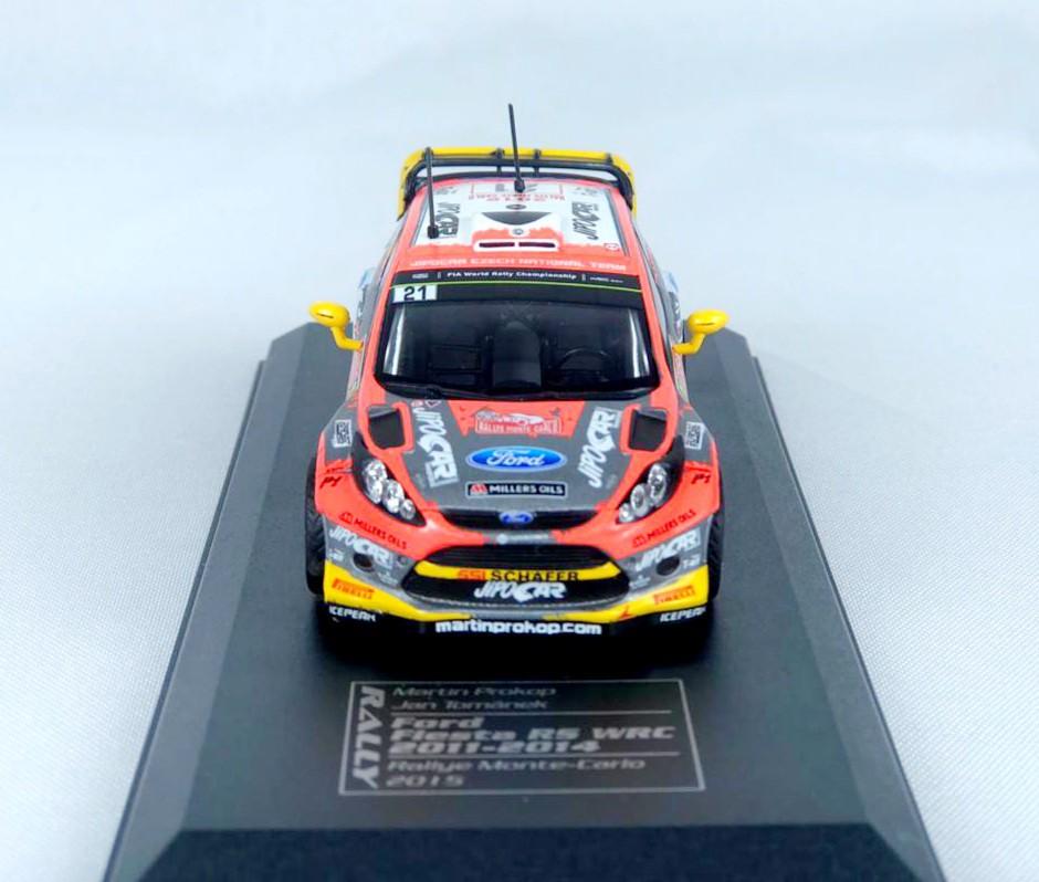 Miniatura Ford Fiesta RS 2015 Monte Carlo Rally 1/43 Ixo