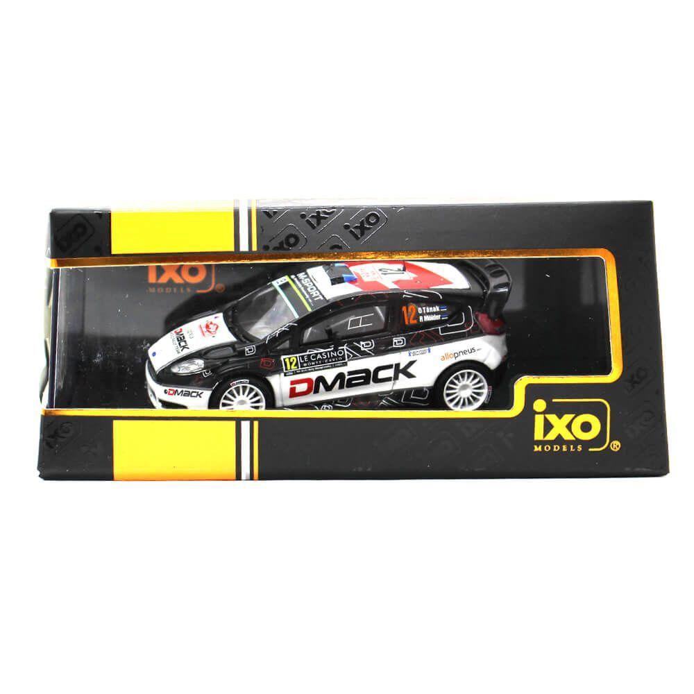 Miniatura Ford Fiesta RS WRC DMACK N 12 Rally Montecarlo 2016 Ott Tänak e Raigo Molder 1/43 Ixo