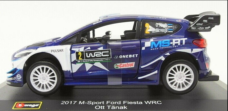 Miniatura Ford Fiesta WRC M-Sport 2017 Sebastian Ogier Rally 1/32 Bburago