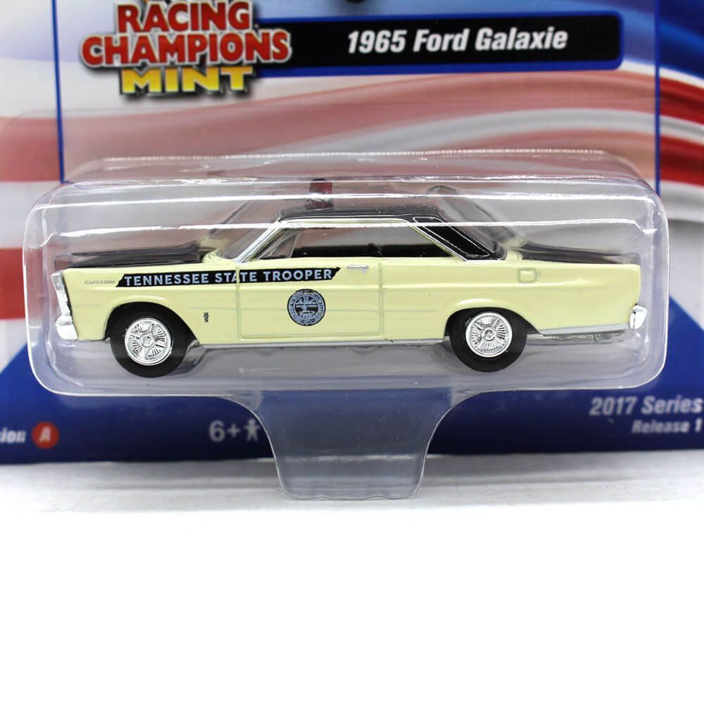 Miniatura Ford Galaxie 1965 Tenessee St Trooper 1/64 Racing Champions