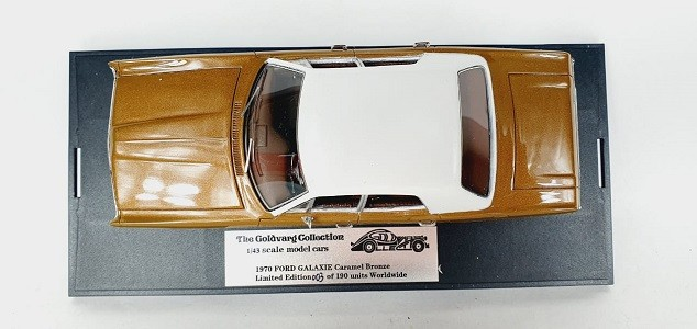 Miniatura Ford Galaxie 1970 Caramel Bronze 1/43 Goldvarg Collection