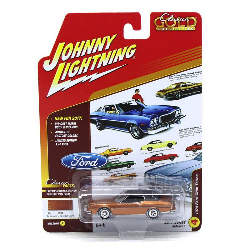 Miniatura Ford Gran Torino 1974 Classic Gold Collection A 1/64 Johnny Lightning