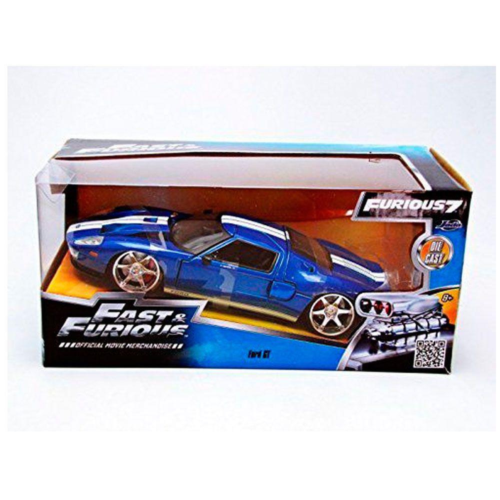 Miniatura Ford GT 2005 Velozes e Furiosos 1/24 Jada Toys