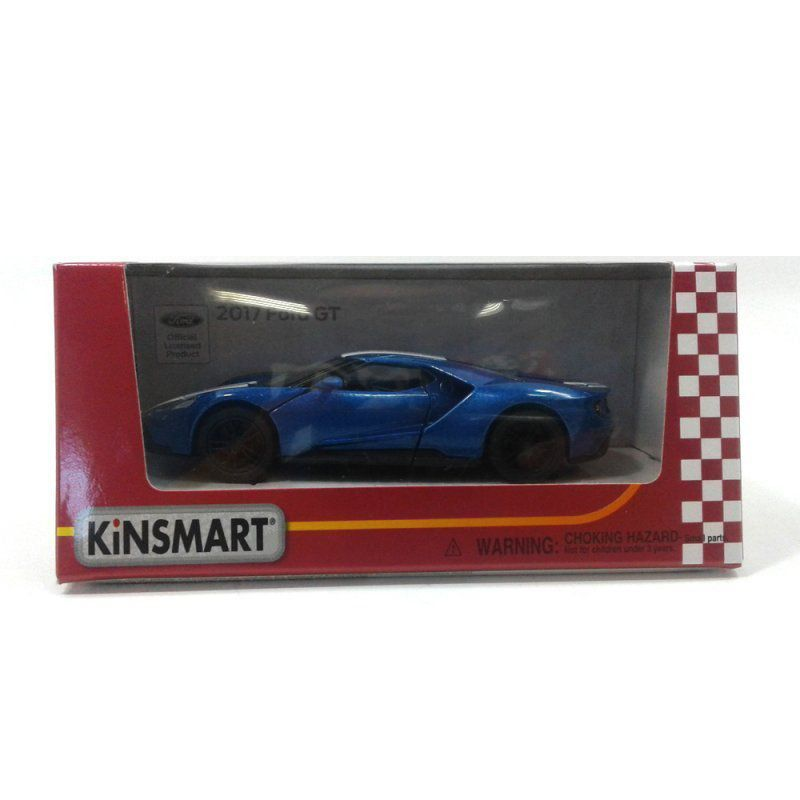 Miniatura Ford GT 2017 Azul 1/38 Kinsmart