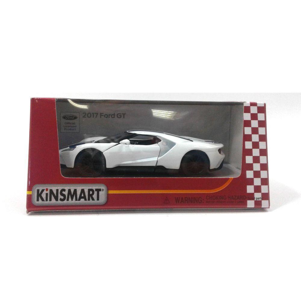 Miniatura Ford GT 2017 Branco 1/38 Kinsmart