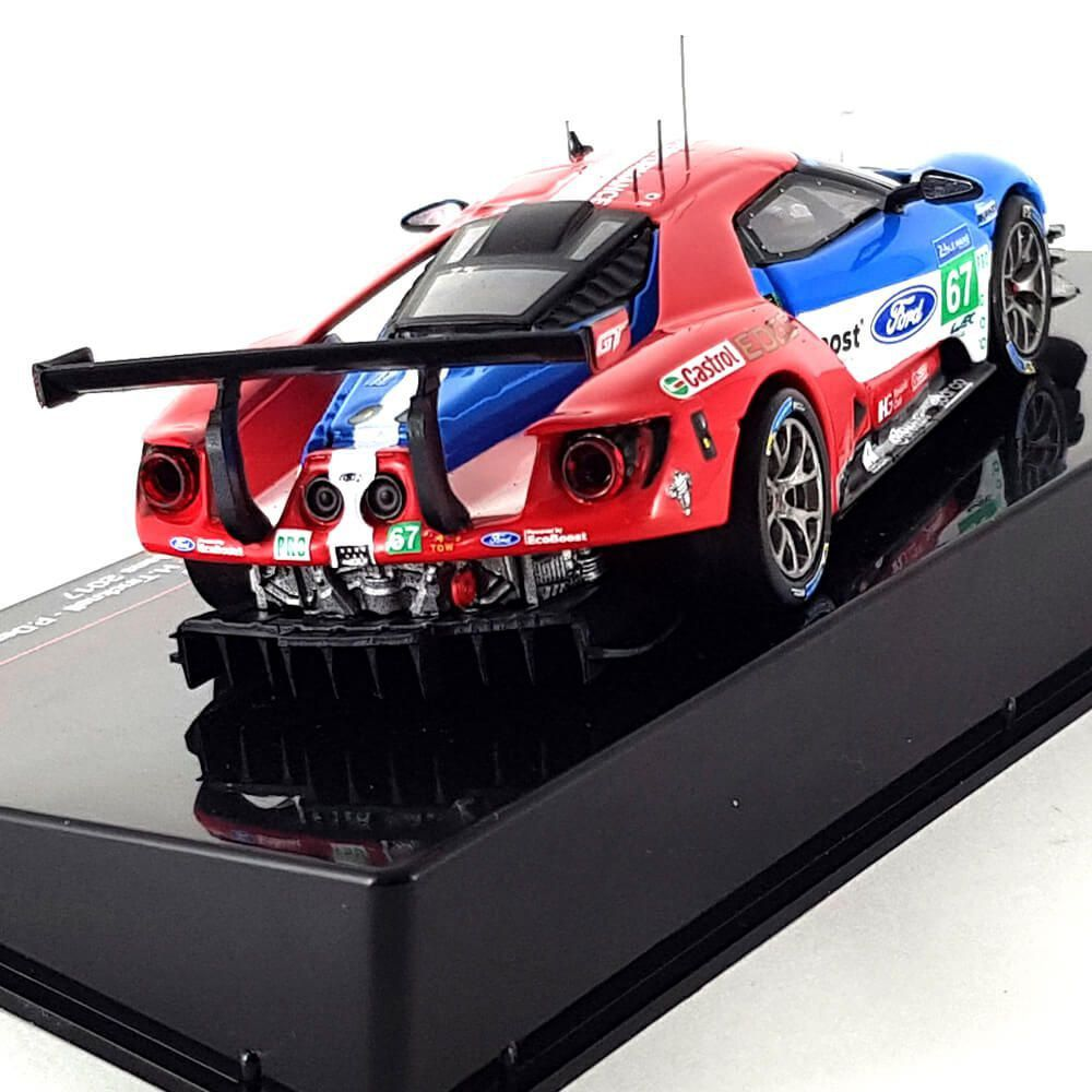 Miniatura Ford GT 3.5L Turbo V6 Ford Chip Ganassi UK N 67 24h Le Mans 2017 Harry Tincknell Andy Priaulx Pipo Derani 1/43 Ixo